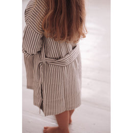 Konges Slojd - Kid's Muslin Bathrobe in Striped - Scandibørn