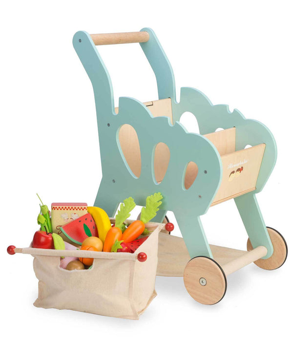 Le Toy Van Honeybake Shopping Trolley with Fabric Bag - Scandibørn