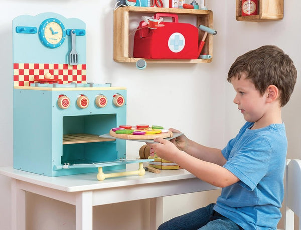 Le Toy Van - Oven & Hob Set in Blue - Scandibørn