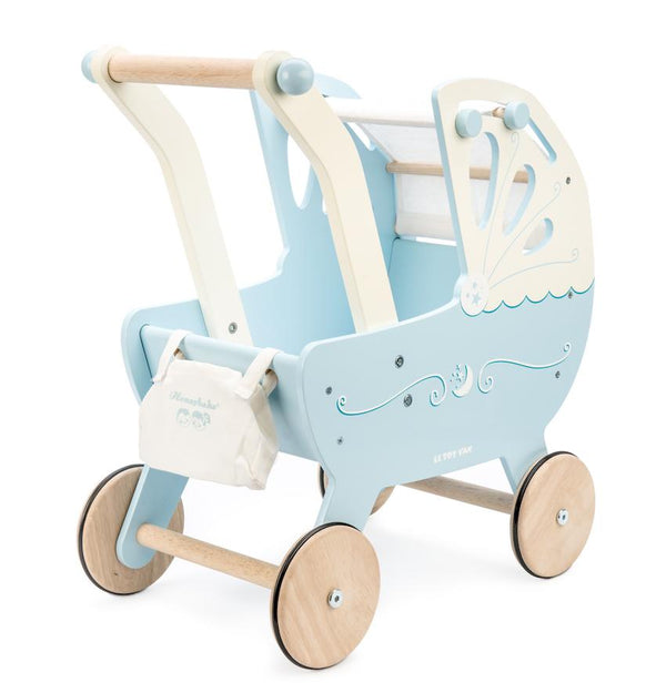 Le Toy Van Pram Moonlight Pram in Blue - Scandibørn
