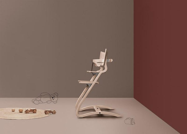 Leander High Chair with Safety Bar - Natural - Scandibørn