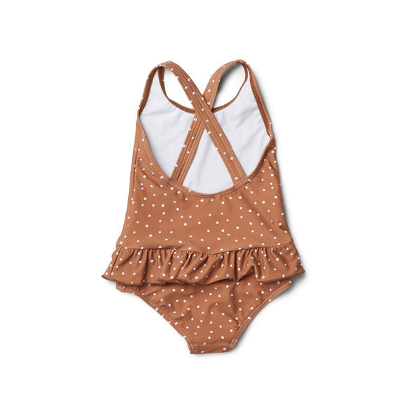 Liewood Amara swimsuit in Confetti terracotta - Scandibørn