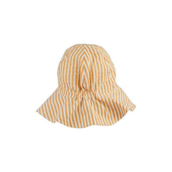 Liewood Amelia Sun Hat in Yarn Dye Stripe in Mustard/White - Scandibørn
