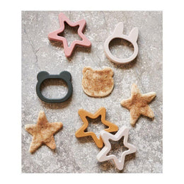 Liewood Andy Cookie Cutters in Mustard Mix (6 pack) - Scandibørn