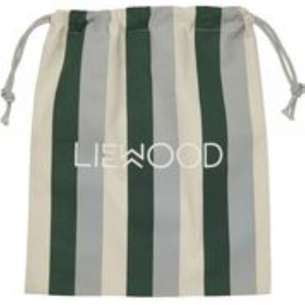 Liewood Cotton Dust Bag in Small - Garden Green / Sandy / Dove Blue - Scandibørn