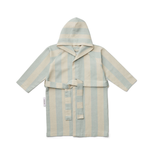 Liewood Dana Bathrobe in Sea Blue/Sandy Stripe - Scandibørn