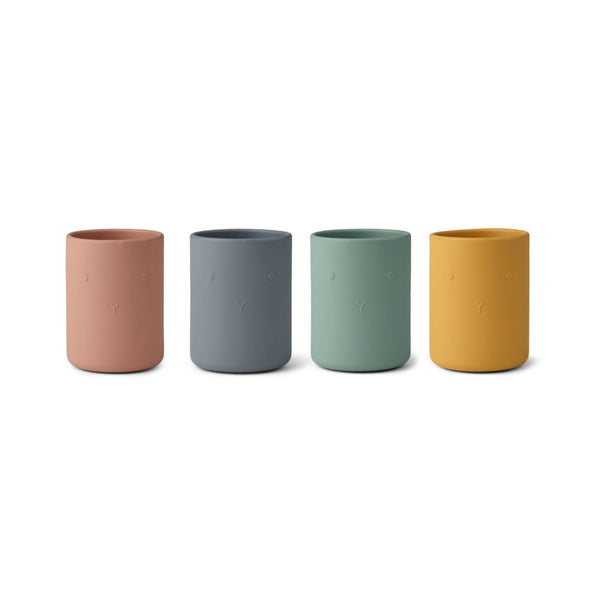 Liewood Ethan Silicone cup (4 Pack) - Rabbit Multi Mix - Scandibørn