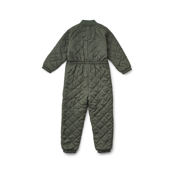Liewood Frankie Thermo Jumpsuit in Hunter Green (0-3Y) - Scandibørn