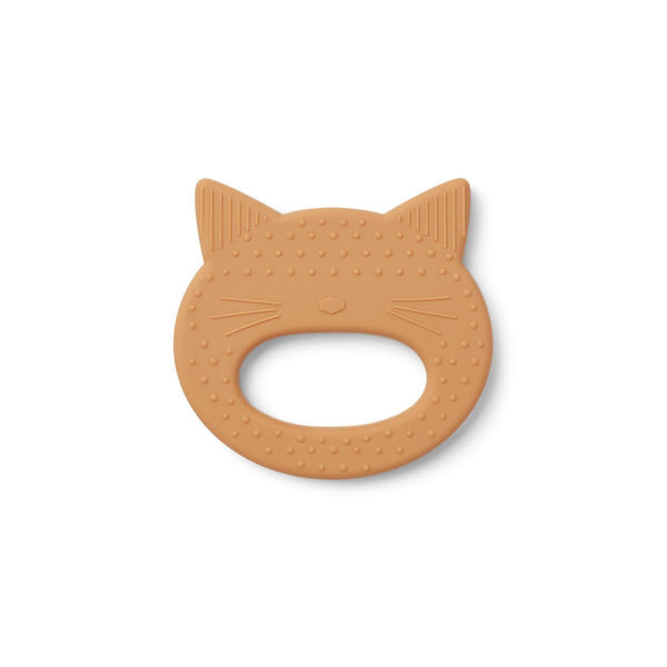 Liewood Gemma Teether - Cat Mustard - Scandibørn