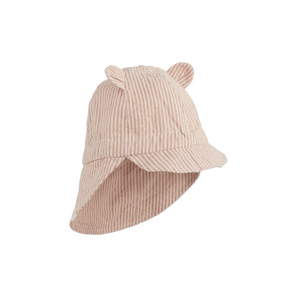 Liewood Gorm Sun Hat in Yarn Dye Stripe - Tuscany Rose/Sandy - Scandibørn