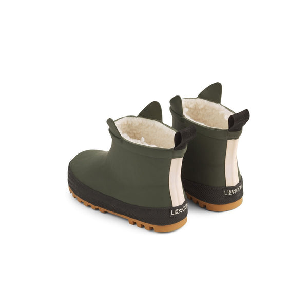 Liewood Jesse Thermo Rain Boot - Hunter Green / Black Mix - Scandibørn