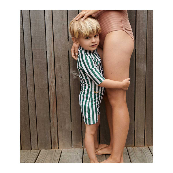 Liewood Max Swim Jumpsuit in Garden Green/Sandy Stripe - Scandibørn