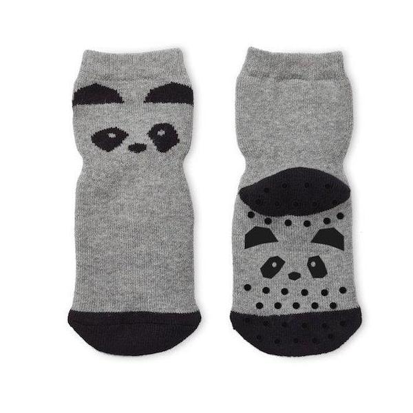 Liewood Nellie / Anti Slip Socks - Panda grey melange - Scandibørn