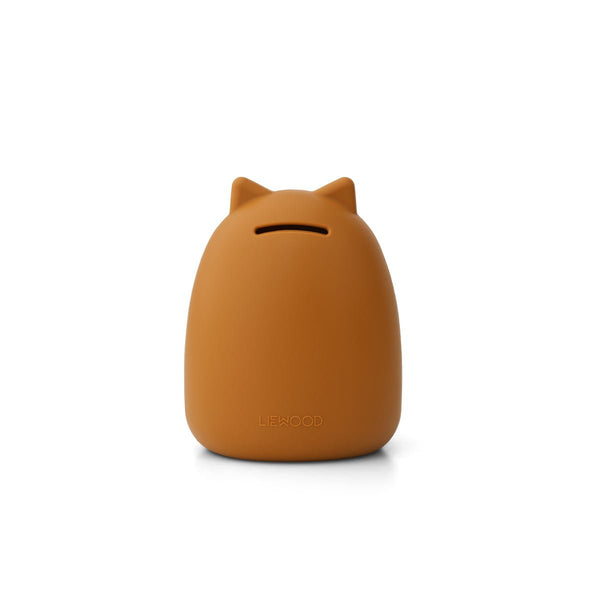 Liewood Palma Money Bank in Cat Mustard - Scandibørn