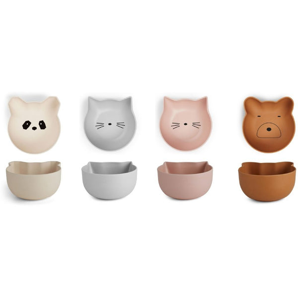 Liewood Rex Snack Bowls - Rose (Set of 4) - Scandibørn