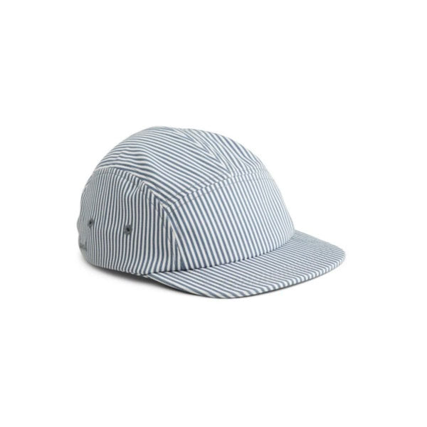 Liewood Rory Hat in Blue Wave/Creme de la Creme Stripe - Scandibørn