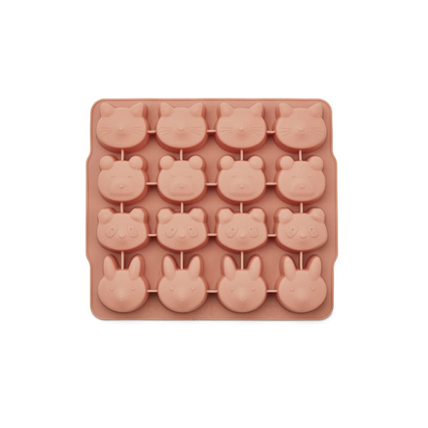 Liewood Sonny IceCube Tray 2 Pack - Yellow Mellow / Dark Rose - Scandibørn