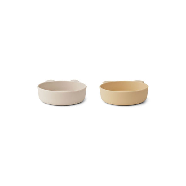Liewood Vanessa Bowls (Set of 2) - Wheat Yellow Sandy Mix - Scandibørn