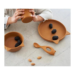 Liewood - Vivi Silicone Baby Tableware Set in Cat Mustard - Scandibørn