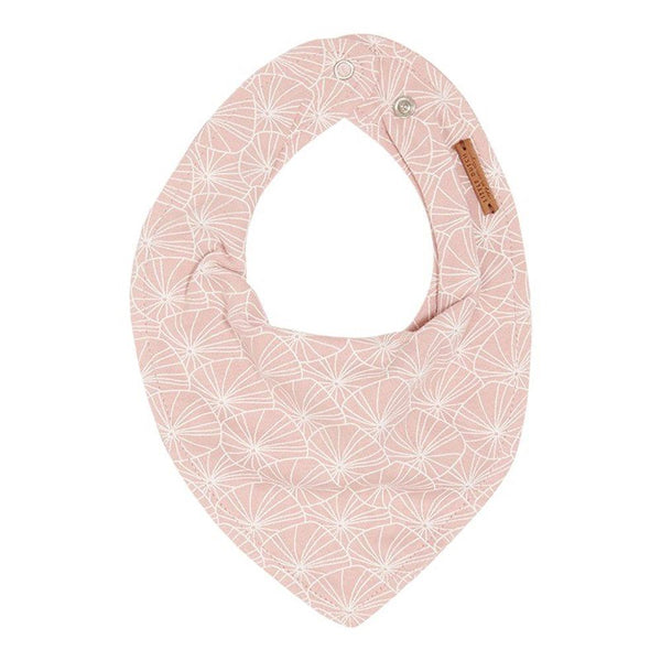 Little Dutch Bandana Bib in Lily Leaves Pink - Scandibørn