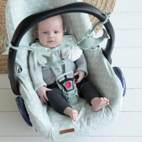 Little Dutch Car Seat Cover in Lily Leaves Mint (0 months+) - Scandibørn
