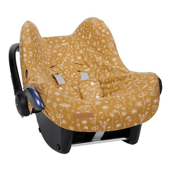 Little Dutch Car Seat Cover in Wild Flowers Ochre (0 months+) - Scandibørn