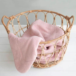 Little Dutch Cot Blanket in Pure Pink - Scandibørn