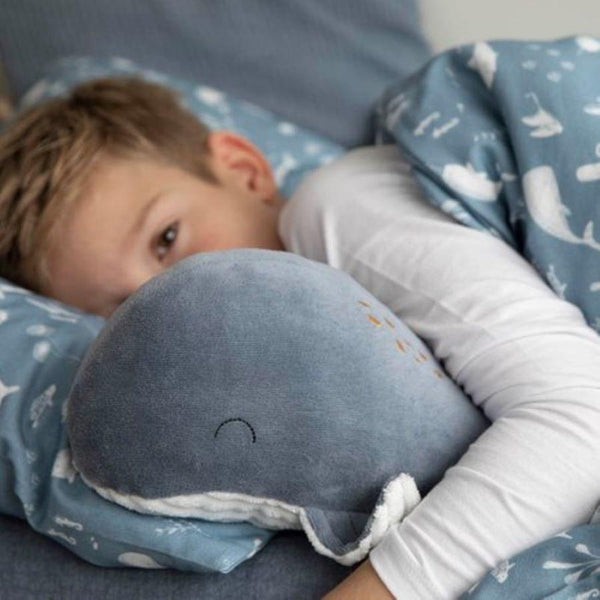 Little Dutch Large Cuddly Toy Whale in Ocean Blue - Scandibørn