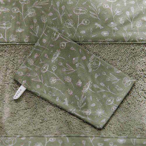 Little Dutch Washcloths (Set of 3) in Wild Flowers Olive - Scandibørn
