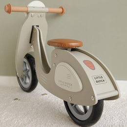 Little Dutch Wooden Scooter Olive Green - Scandibørn