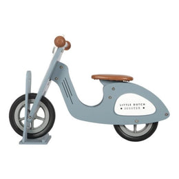 Little Dutch Wooden Scooter Stand in Blue - Scandibørn