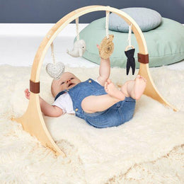 Little Green Sheep Wooden Baby Play Gym - Ocean Whale - Scandibørn
