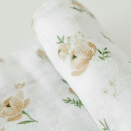Little Unicorn Cotton Swaddle - Yellow Rose (3 Pack) - Scandibørn