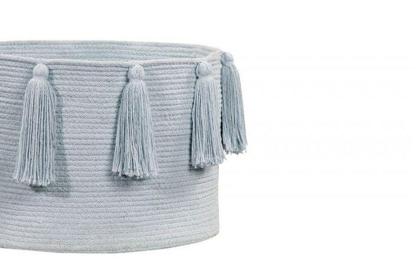 Lorena Canals Basket Tassels Soft Blue - Scandibørn