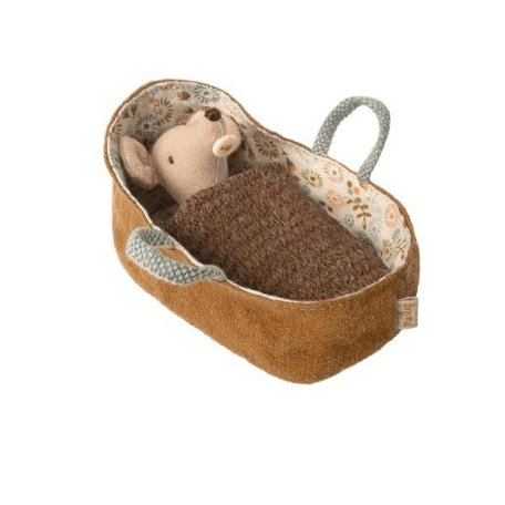 Maileg Baby Mouse in Carrycot - Scandibørn