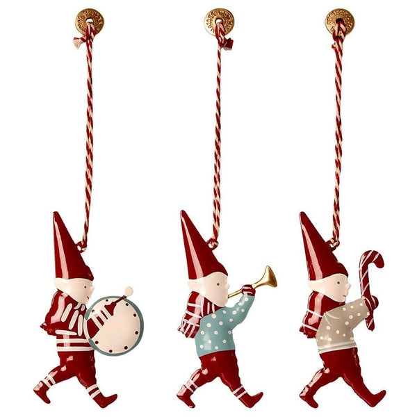 Maileg Christmas Ornaments in Matchbox - Pixies (3 Pieces) - Scandibørn