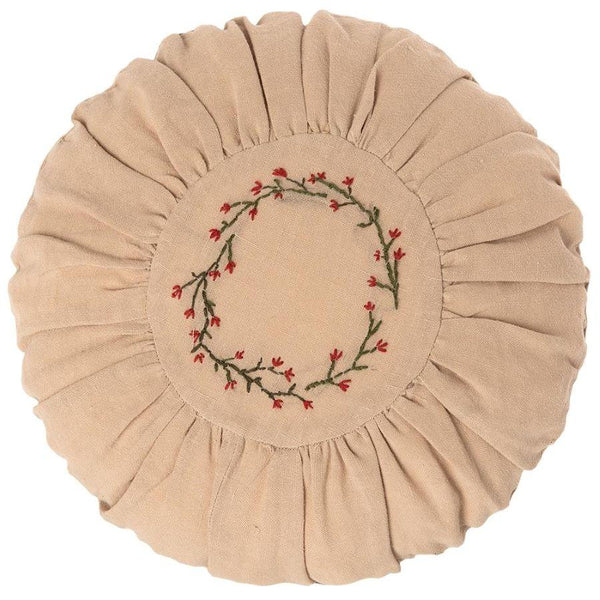 Maileg Round Decorative Cushion in Flower Circle - Scandibørn