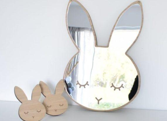Maseliving Sleepy Bunny Mirror - Oak - Scandibørn