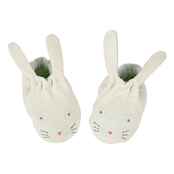 Meri Meri Bunny Booties in Mint - Scandibørn
