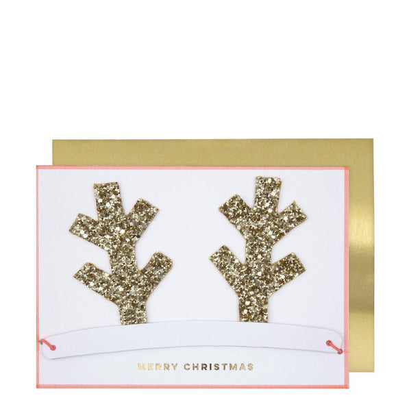 Meri Meri Christmas Card - Antlers Crown Christmas Card - Scandibørn