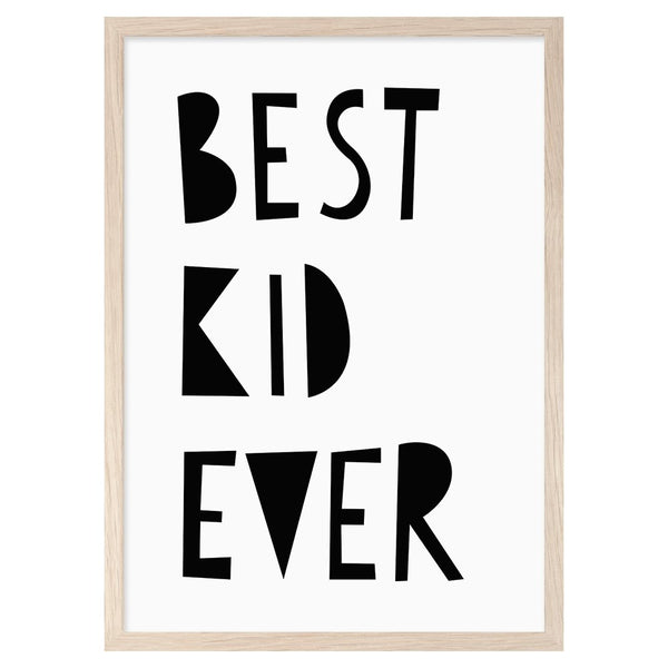 Mini Learners 'Best kid ever' poster - Scandibørn