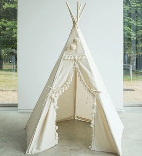 MiniCamp Boho Play Tent with tassels
