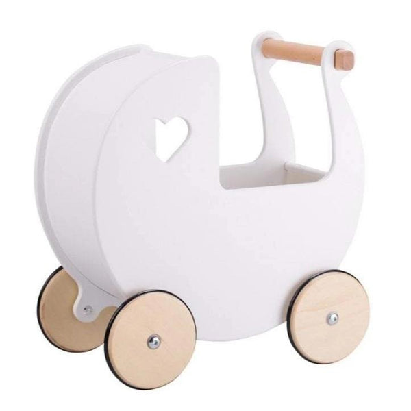 Moover doll's pram in White - Scandibørn