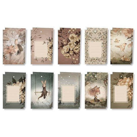 Mrs Mighetto - Gift Tags - Flowers and Tivoli (10 pack)