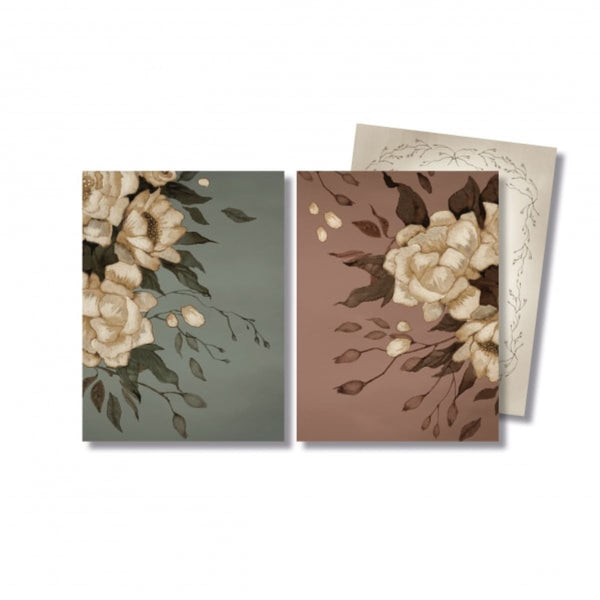 Mrs Mighetto - Peonies Cards (2 pack) - Scandibørn