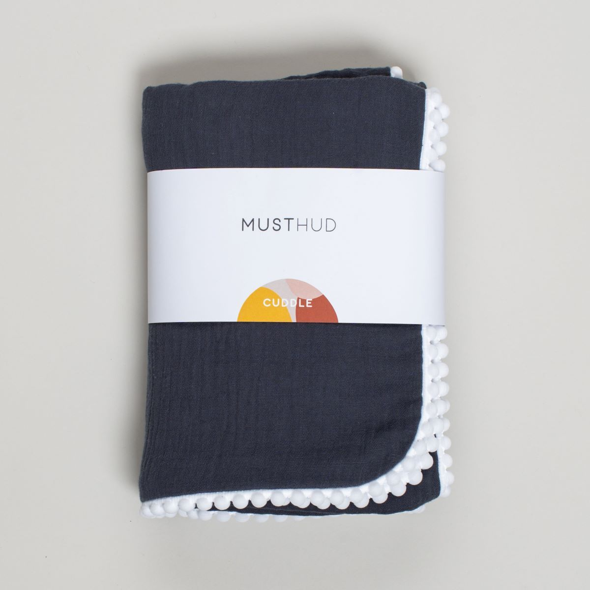 Musthud Cuddle Blanket in Charcoal Blue