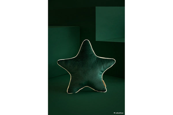 Nobodinoz Aristote Star Velvet Cushion in Jungle Green - Scandibørn