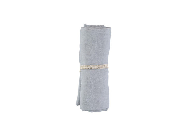 Nobodinoz Baby Love Swaddle in Riviera Blue - Scandibørn