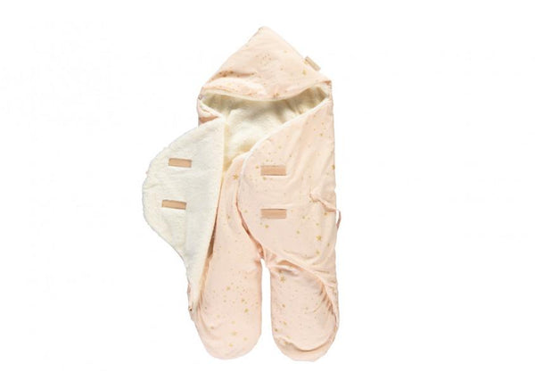 Nobodinoz Kiss Me Baby / Car Seat / Stroller Wrap Gold Stella Dream Pink - Scandibørn