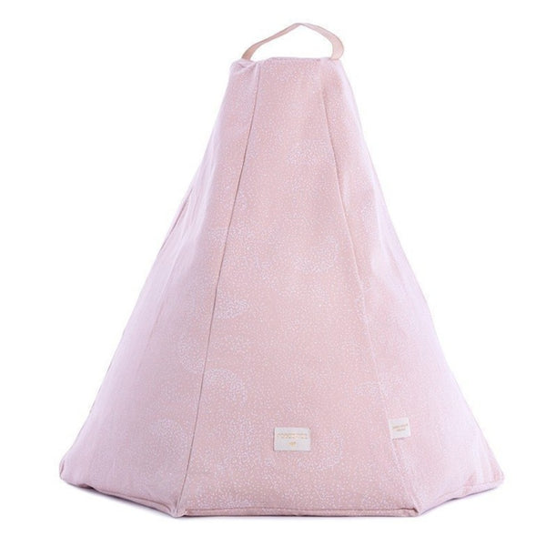 Nobodinoz Marrakech Bean Bag in White Bubble / Misty Pink - Scandibørn